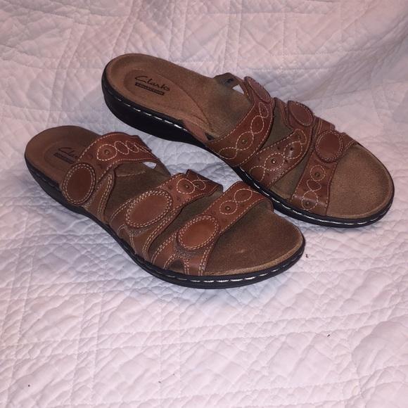 brown clark sandals